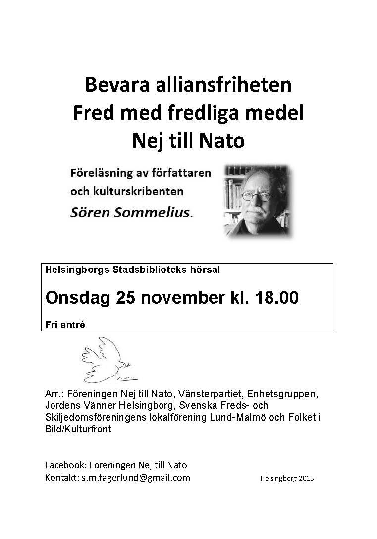 Affisch Nej till Nato försök