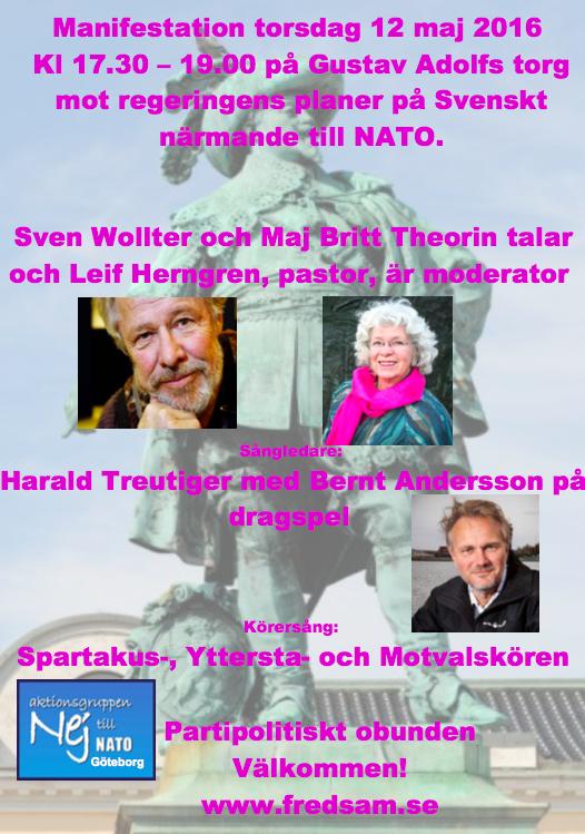 Manifestation 12 maj GA Torg GBG